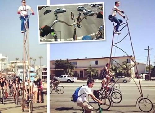 велосипед высотой 5,4 метра