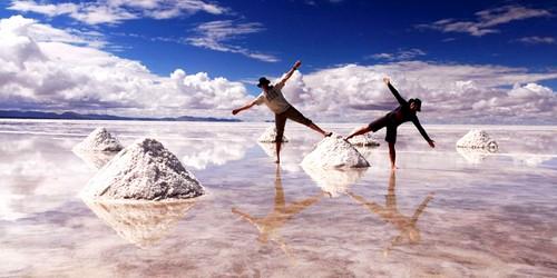 Озеро Уюни в Боливиии