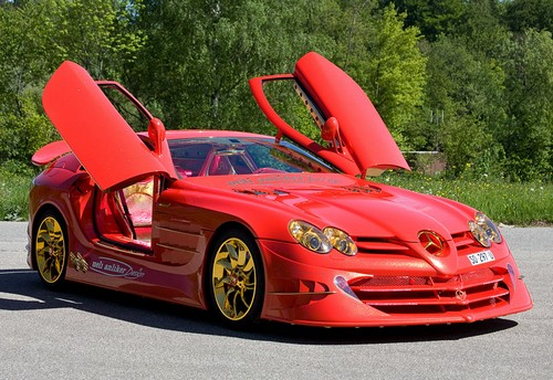2011 Mercedes-Benz SLR McLaren 999 Red Gold Dream Ueli Anliker; top car design rating and specifications